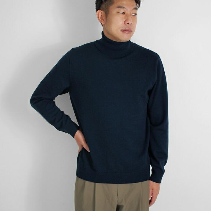 カシミヤ100%メンズタートルネックセーター
