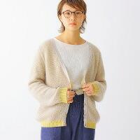 toiroコンビネーション・モヘア・カーディガン