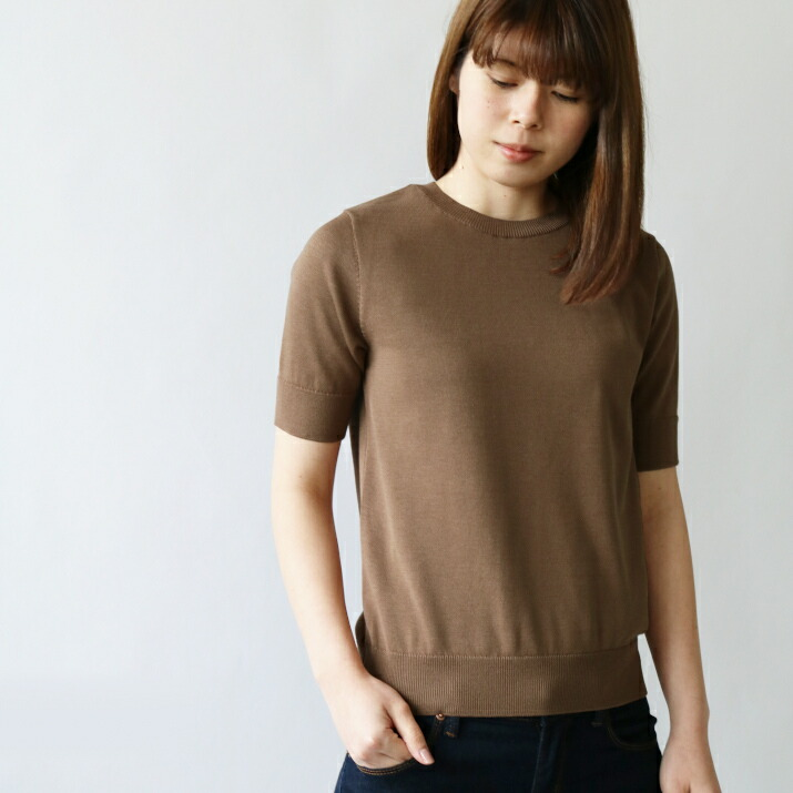 シルクコットンTシャツ