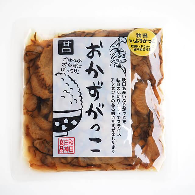 《秋田白神食品》おかずがっこ(甘口)【150g】