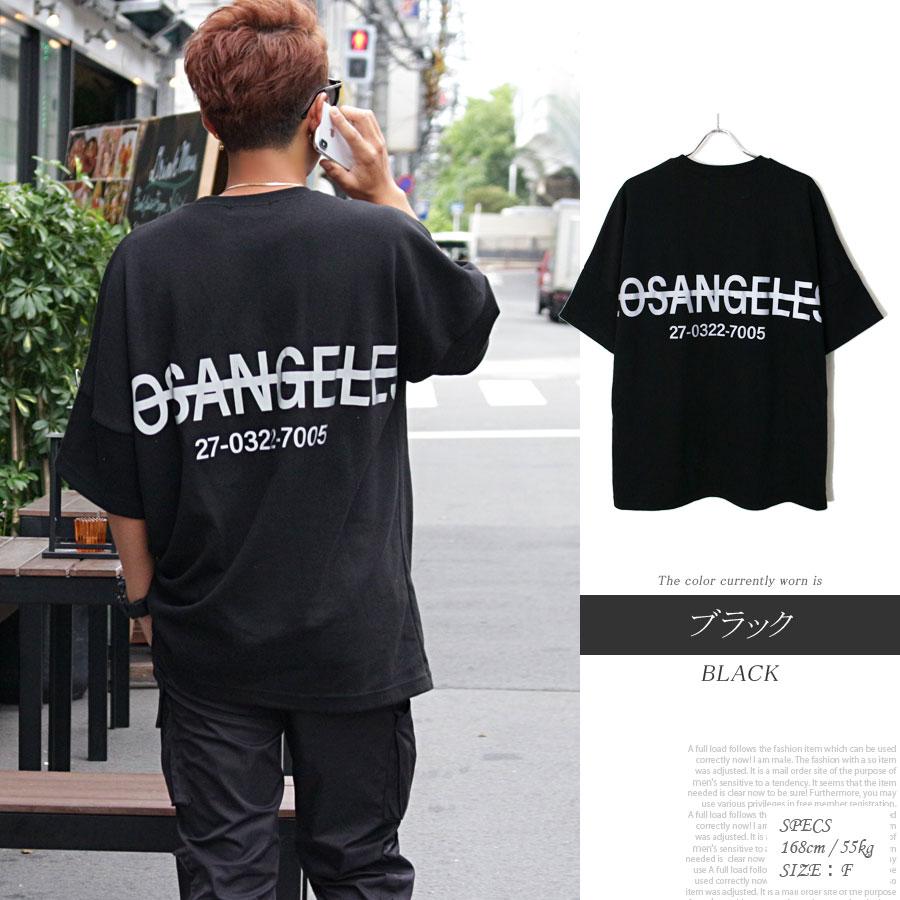 リフレクター ビッグ Tシャツ ブラック