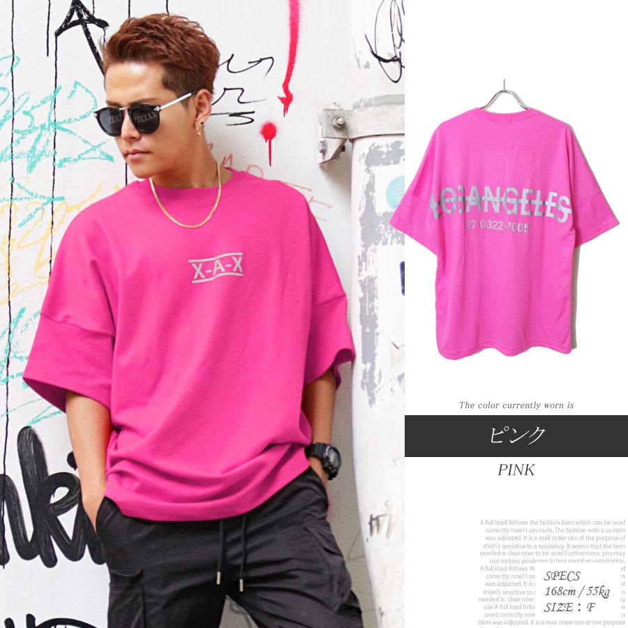 リフレクター ビッグ Tシャツ ピンク
