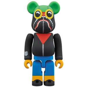 A BATHING APE(R) × HEBRU BRANTLEY × SOCIAL STATUS BE@RBRICK 100%