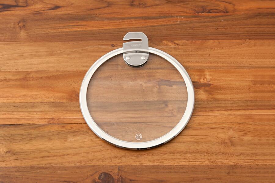 クリステル ガラス製フラットふた 20cm / CRISTEL