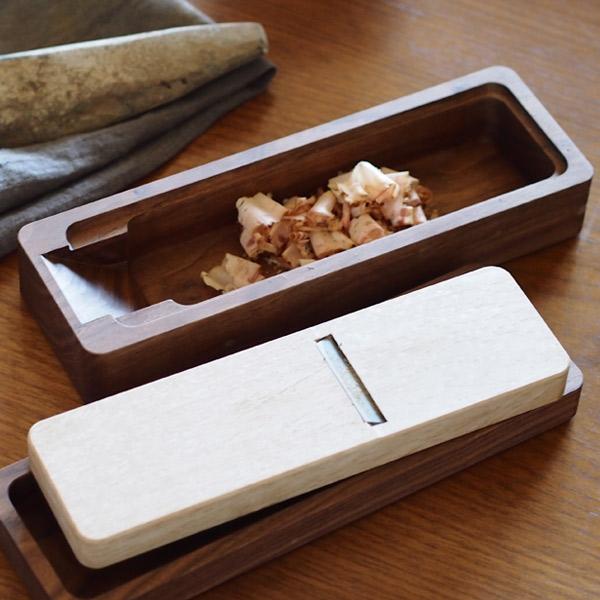 台屋の鰹節削り器 別注青紙×ウォルナット