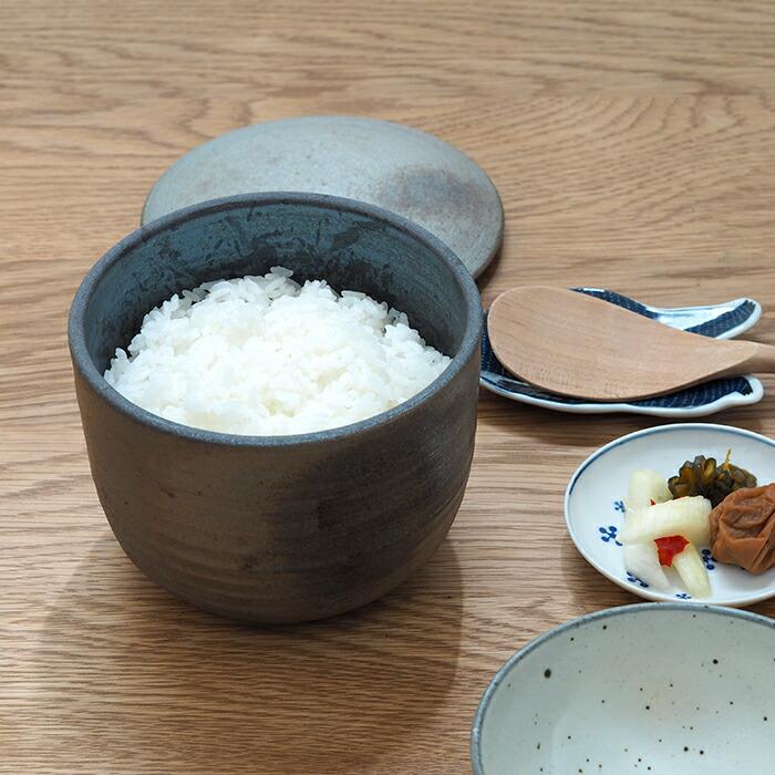 ココチ舎 焼締 陶おひつ 2合