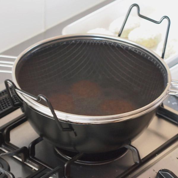 ラバーゼ 鉄揚げ鍋28cm / la base