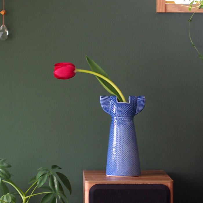リサ・ラーソン ワードローブ ドレス 170mm ダークブルー 花瓶