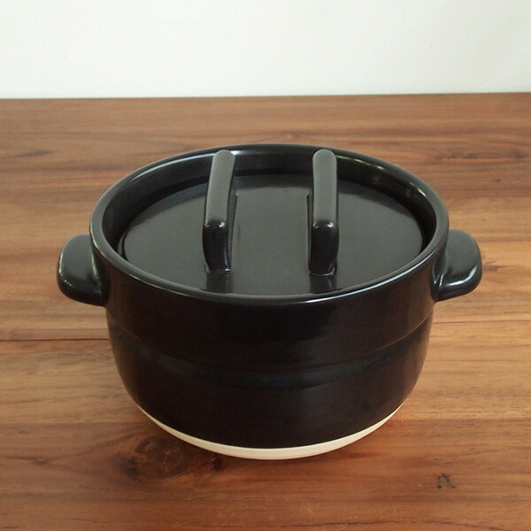 かもしか道具店 ごはんの鍋 二合炊き 黒