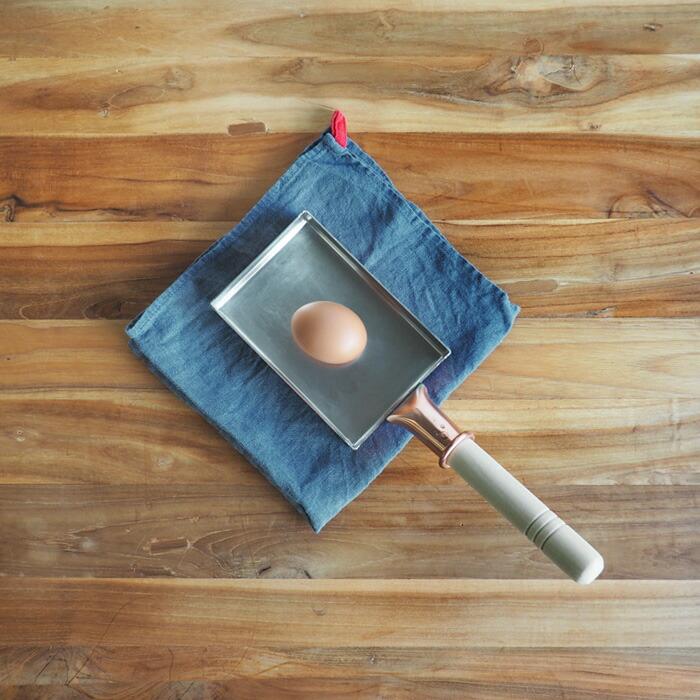 中村銅器製作所 銅玉子焼鍋 10×15cm 1.5mm板
