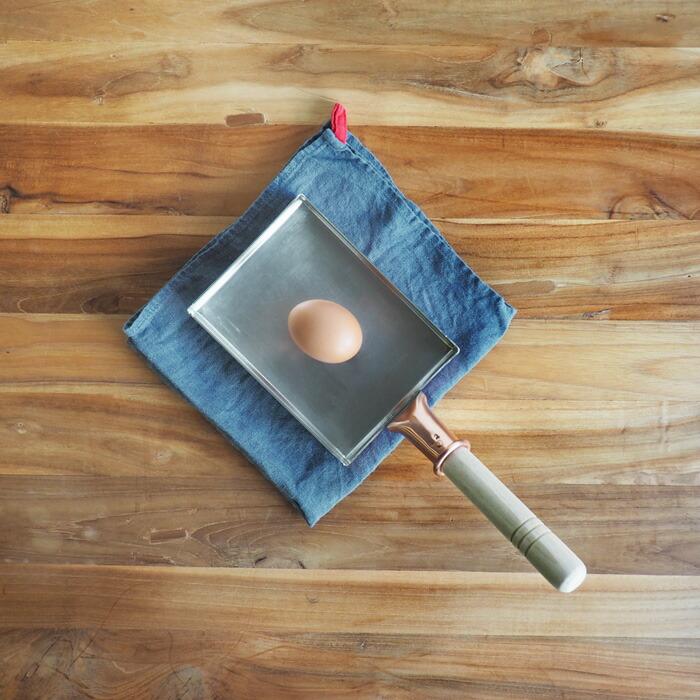 中村銅器製作所 銅玉子焼鍋 12×16cm 1.5mm板