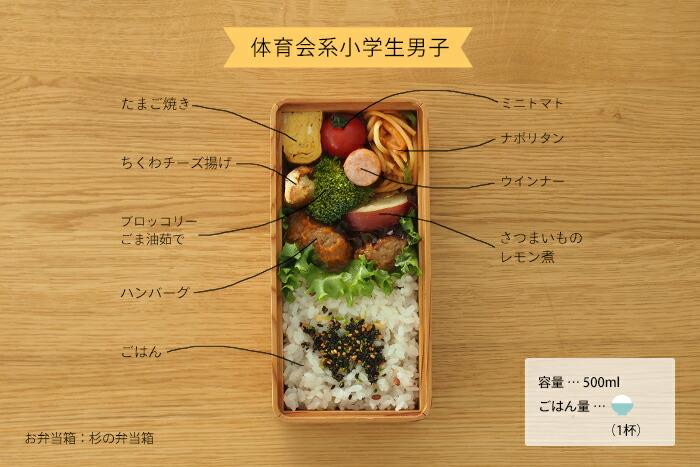 杉のお弁当箱,子供のお弁当箱