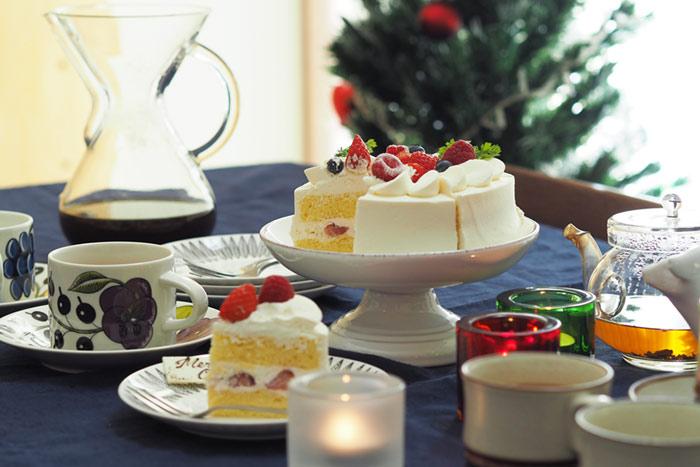 クリスマス,テーブルコーディネート,ケーキ,ケーキスタンド,パープルパラティッシ