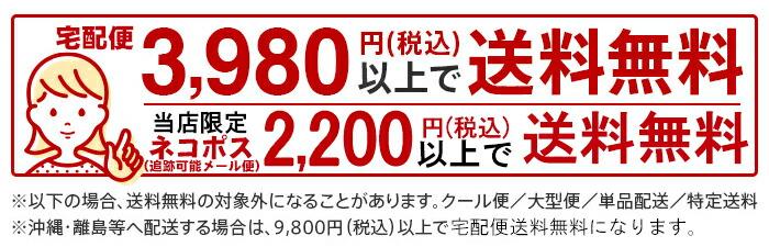 お買い上げ合計金額税込み3,980円で送料無料