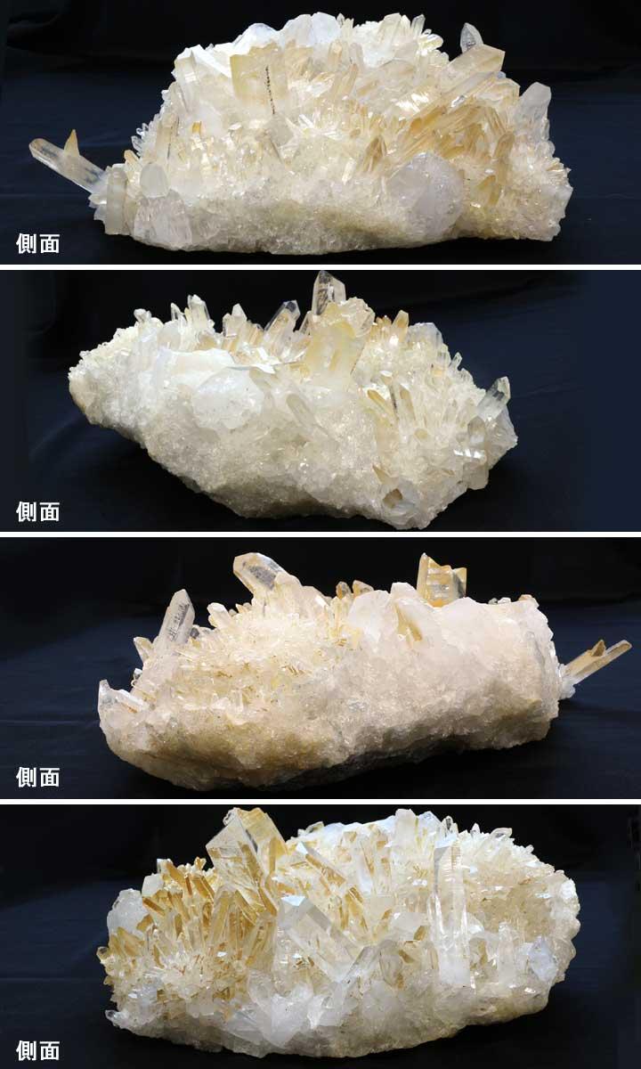 カンチェンジュンガ産ヒマラヤ水晶クラスター38のアングル別カット