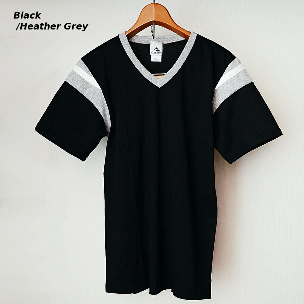 AUGUSTA SPORTSWEAR フットボールTシャツ ブラック/霜降りグレー