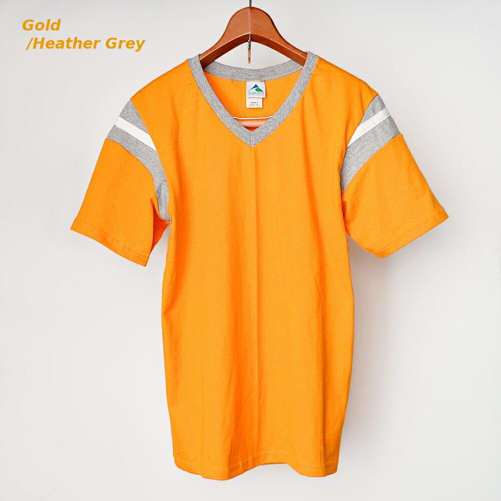 AUGUSTA SPORTSWEAR フットボールTシャツ ゴールド/霜降りグレー
