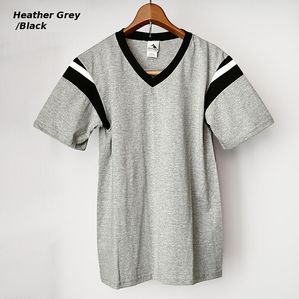 AUGUSTA SPORTSWEAR フットボールTシャツ グレー/ブラック