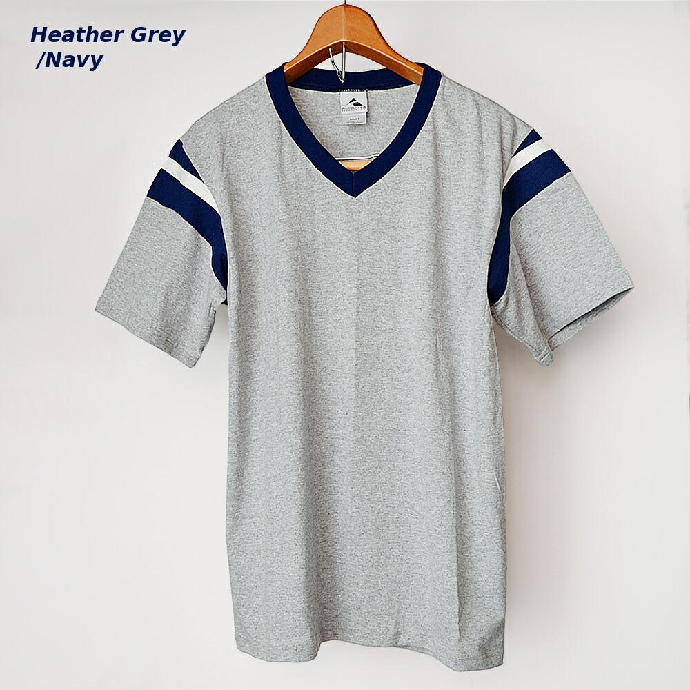AUGUSTA SPORTSWEAR フットボールTシャツ グレー/ネイビー