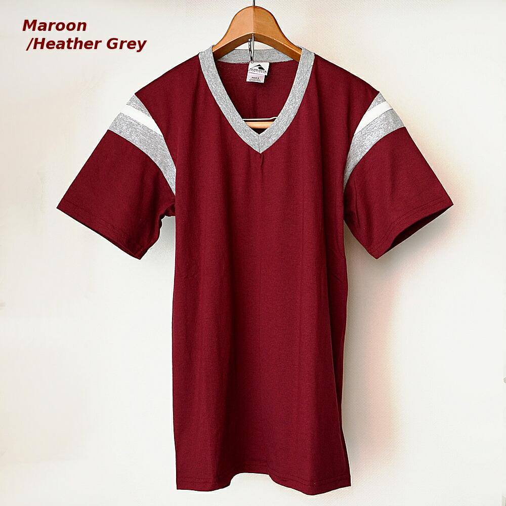 AUGUSTA SPORTSWEAR フットボールTシャツ マルーン/霜降りグレー