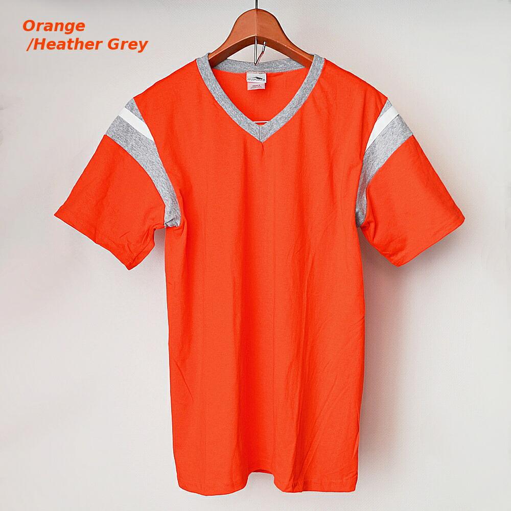 AUGUSTA SPORTSWEAR フットボールTシャツ オレンジ/霜降りグレー
