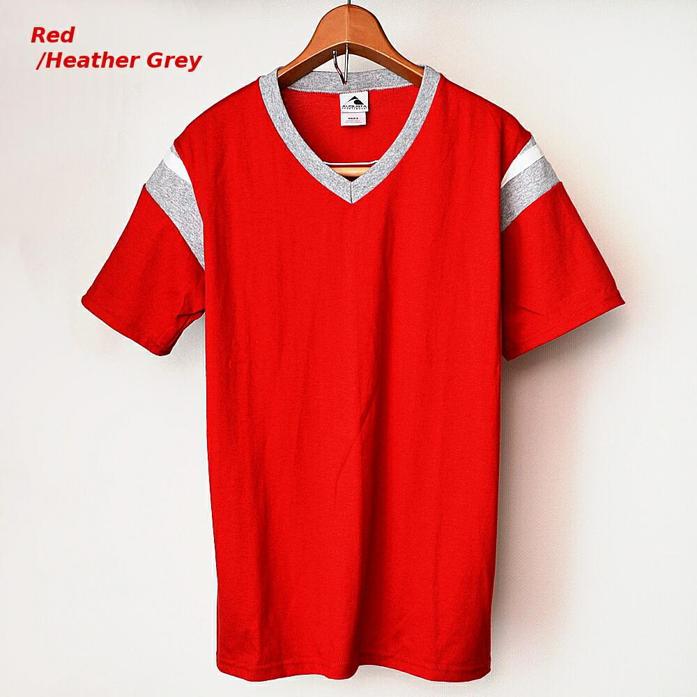 AUGUSTA SPORTSWEAR フットボールTシャツ レッド/霜降りグレー