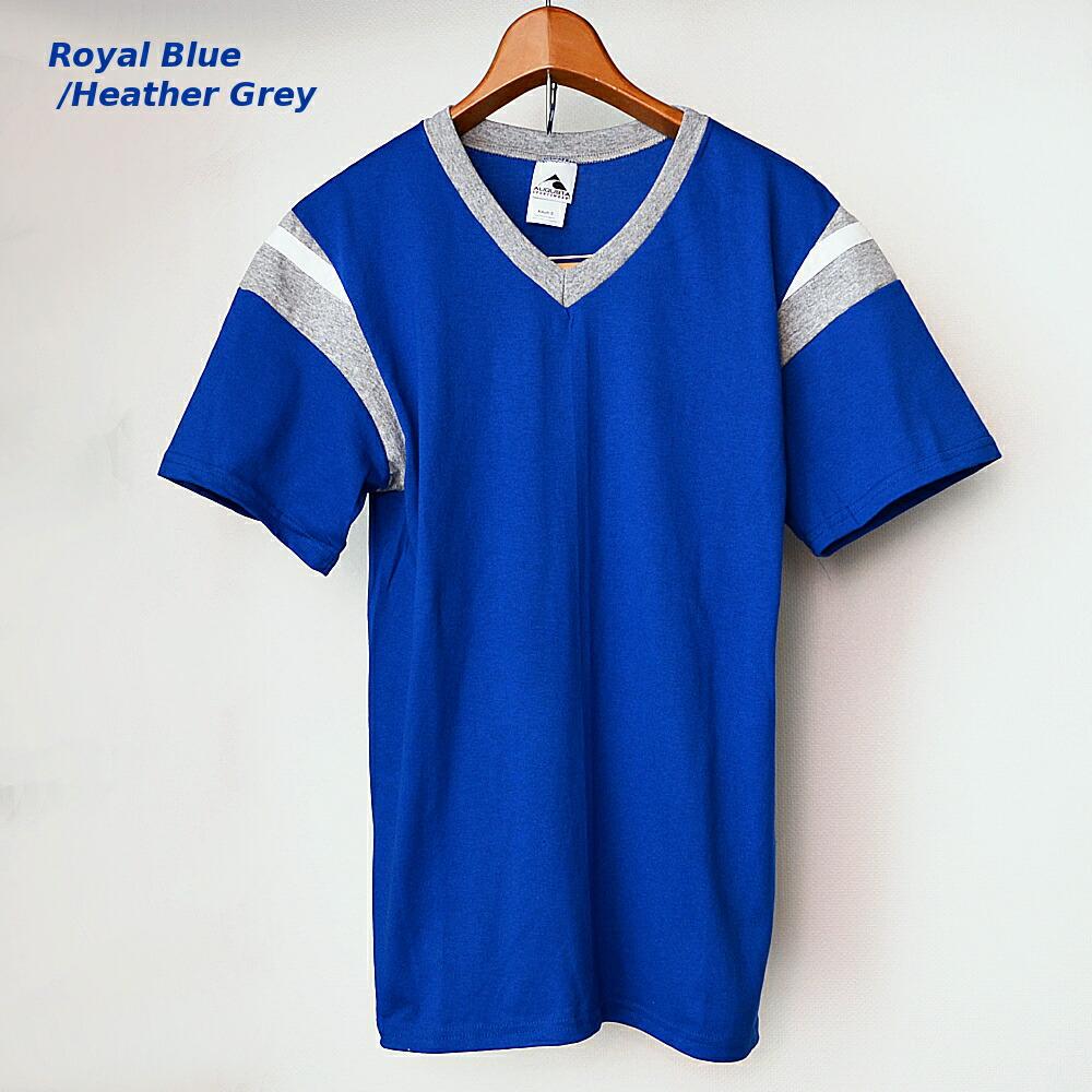 AUGUSTA SPORTSWEAR フットボールTシャツ ロイヤルブルー/霜降りグレー