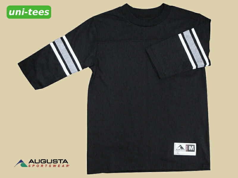 AUGUSTA SPORTSWEAR 7分袖フットボールTシャツ ブラック