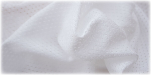 お肌に優しい綿100%のメッシュ生地