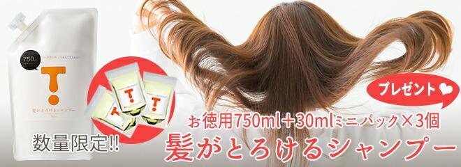 髪がとろけるシャンプー750ml+30ml×3個
