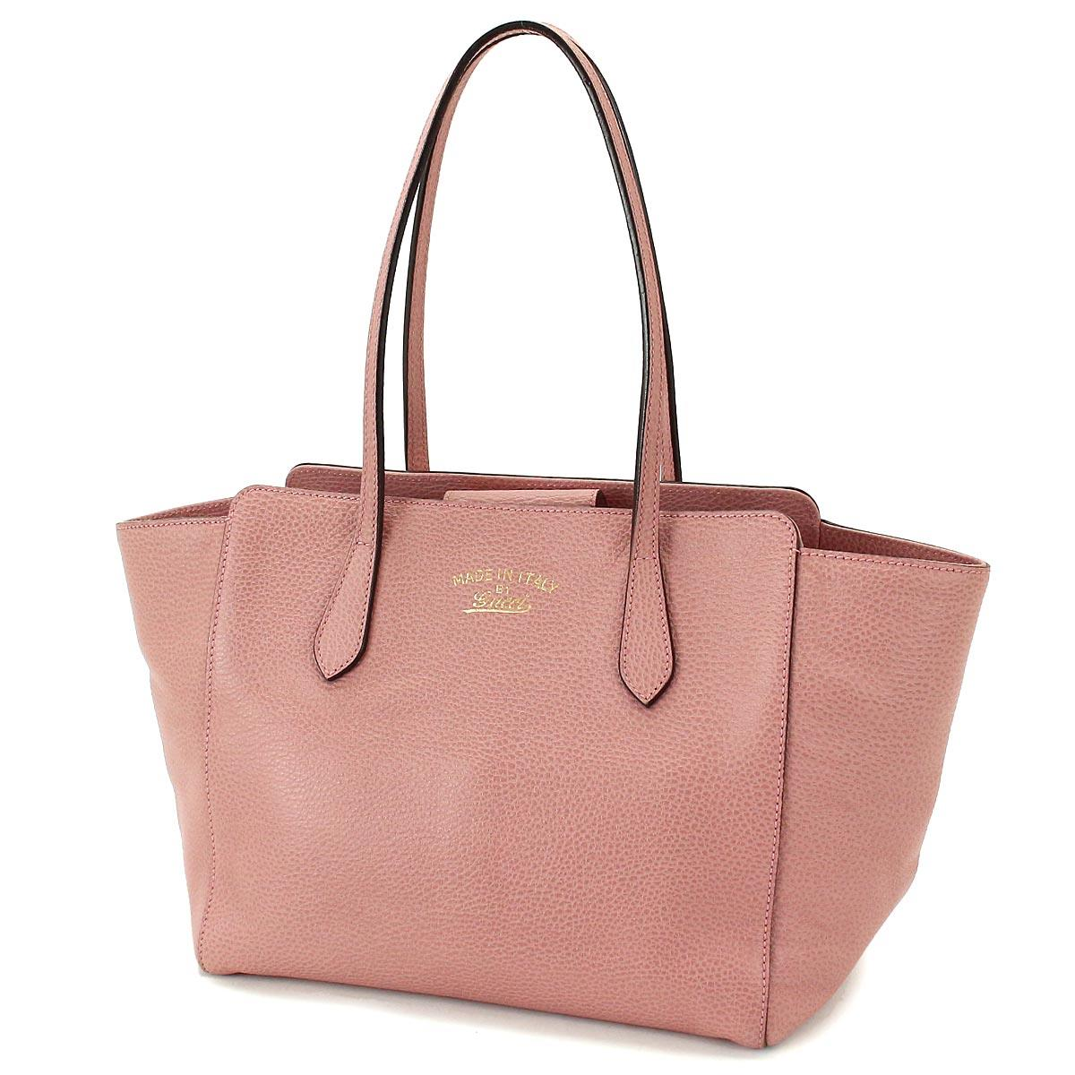 Auth GUCCI Swing Tote Shoulder Bag Leather Pink 354408 ...