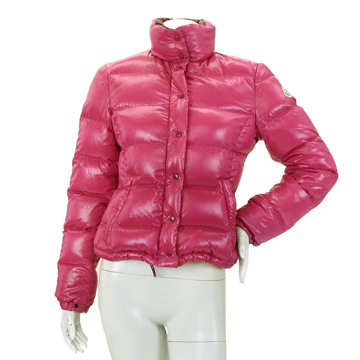 Details about Auth MONCLER Down jacket Pink Purple Nylon CLAIRY Puffer 0  Women s 90026065 f34ed3438