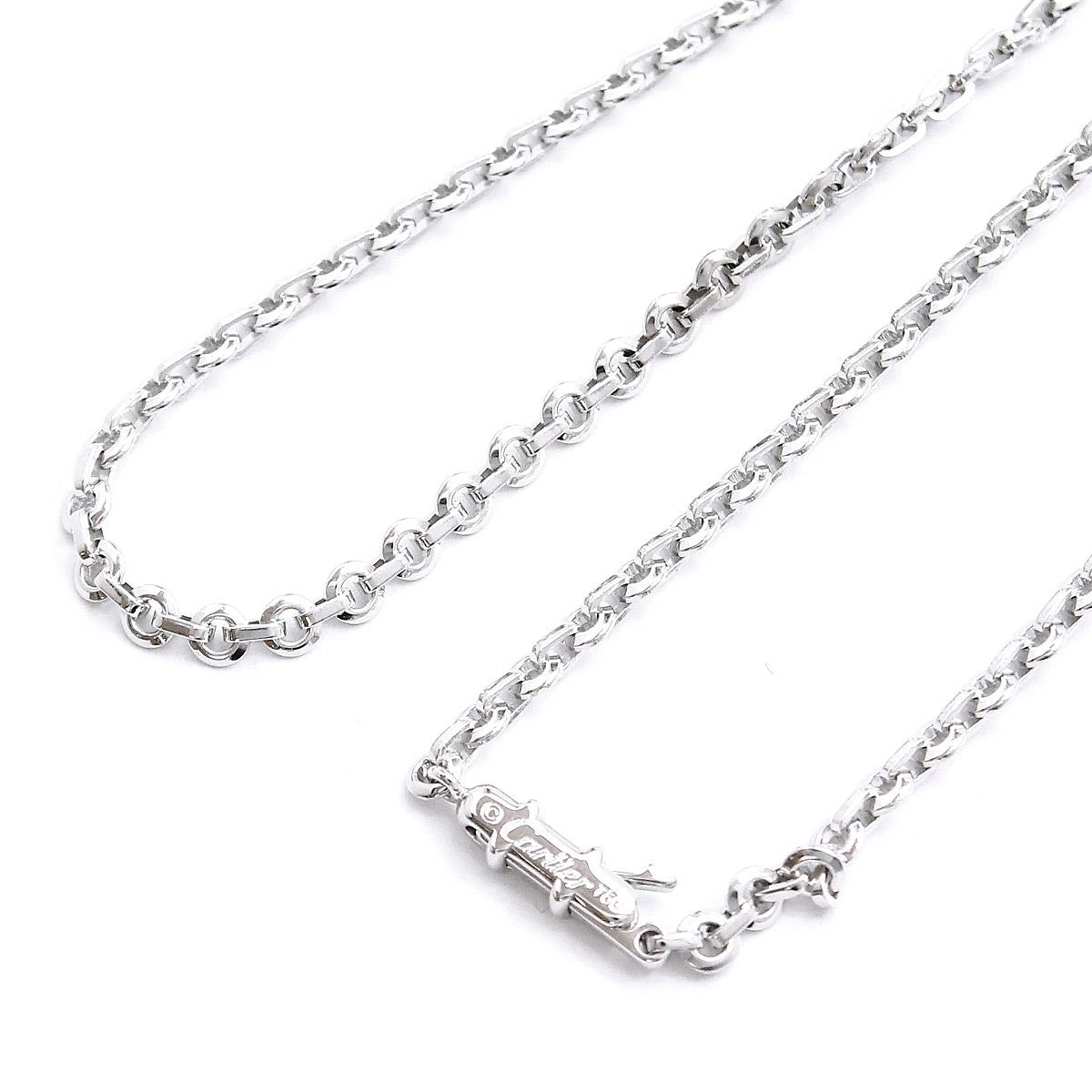 dac0103668e8e4 Details about Auth Cartier Oval Chain Necklace 18K K18 WG White Gold 750  90060009