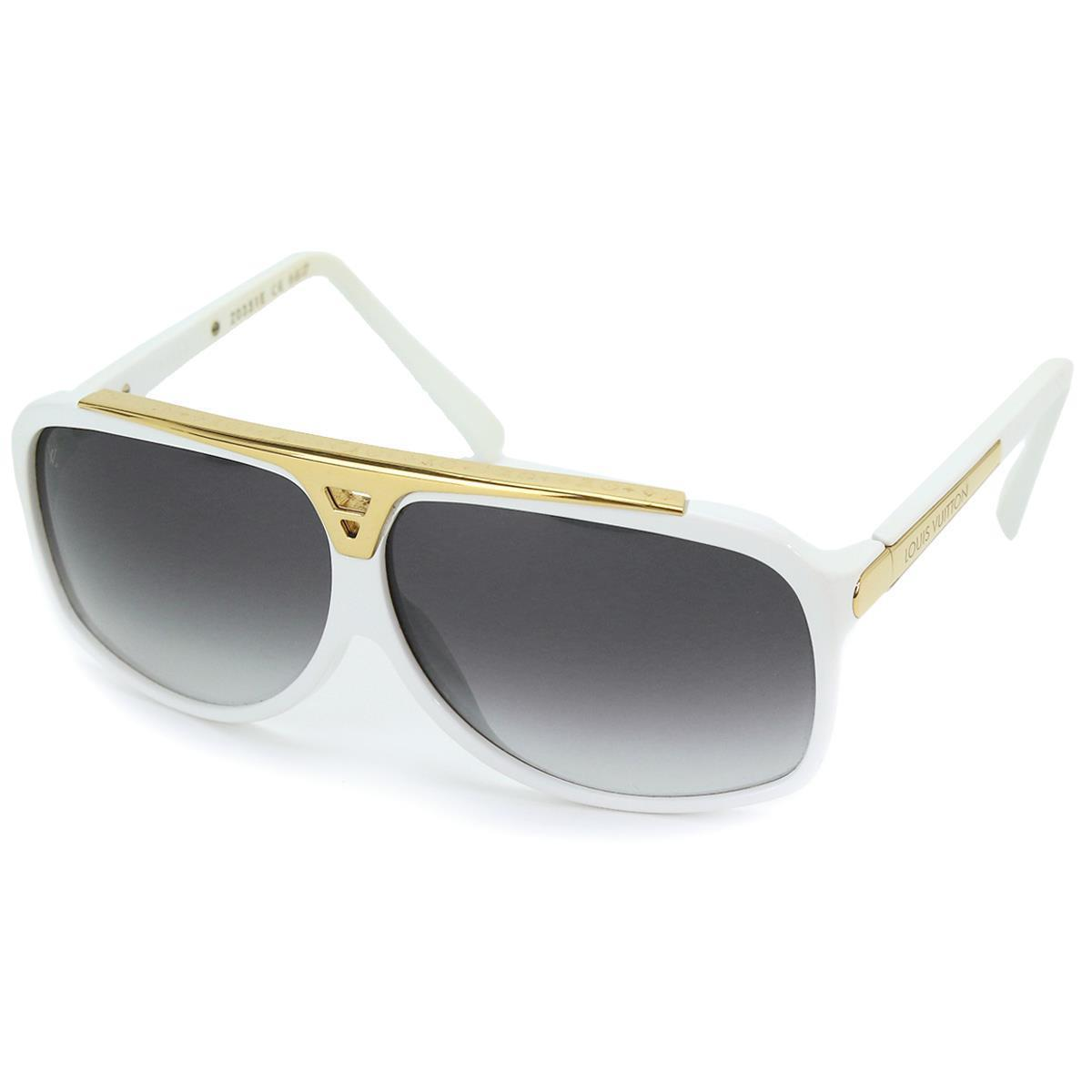 6af0e75473d Details about Auth LOUIS VUITTON Evidence Eye Sunglasses Tear Drop Z0351E  White 90064402
