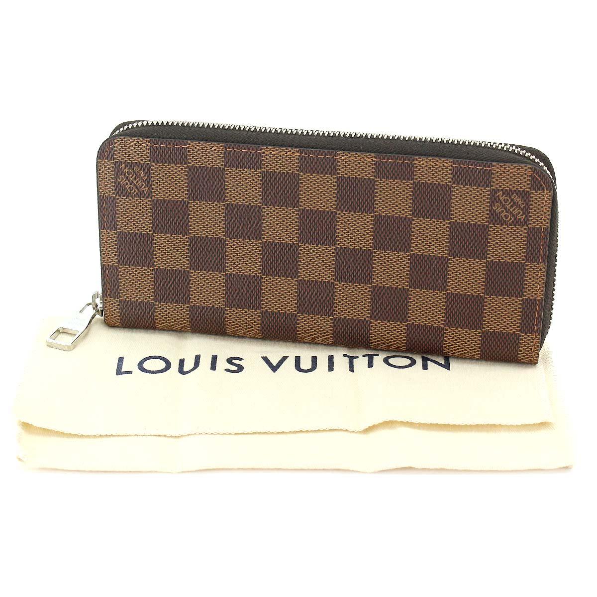 e36a8c0869c1 Auth LOUIS VUITTON Damier Zippy Wallet Vertical Ebene N61207 ...