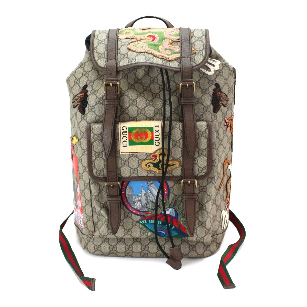 4dd32611a61e Details about Auth GUCCI Courrier Soft GG Supreme Backpack Canvas Beige  473869 213317 90069533