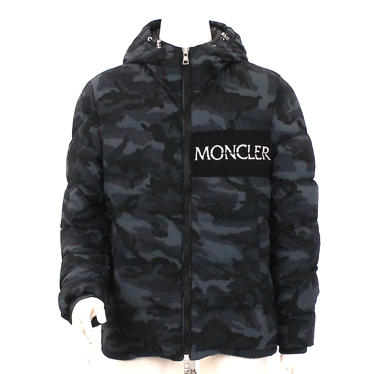MONCLER Daunenjacke AITON Baumwolle Camouflage Navy 3 2018 Männer 90078929 | eBay