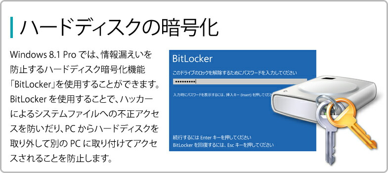 ハードディスクの暗号化