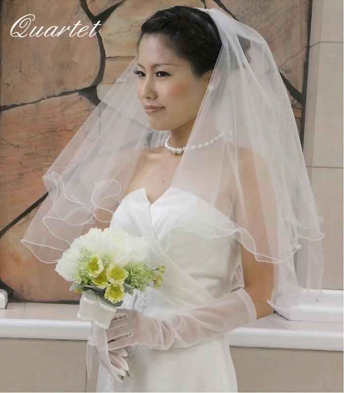 ウェディングベール【メロウショートベール】結婚式/ヴェール/ウェディング