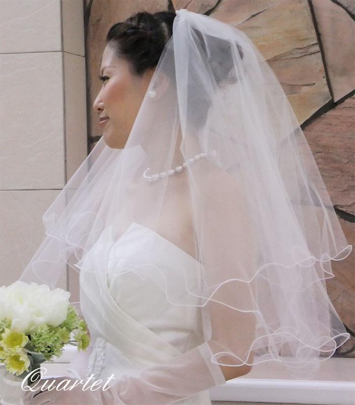 ウェディングベール【メロウのショートベール】結婚式/ヴェール/ウェディング