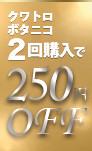 250円OFFクーポン