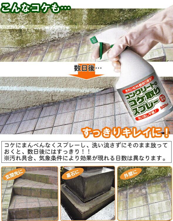 【楽天市場】コンクリートのコケ取りスプレー A-02:オンライン ...
