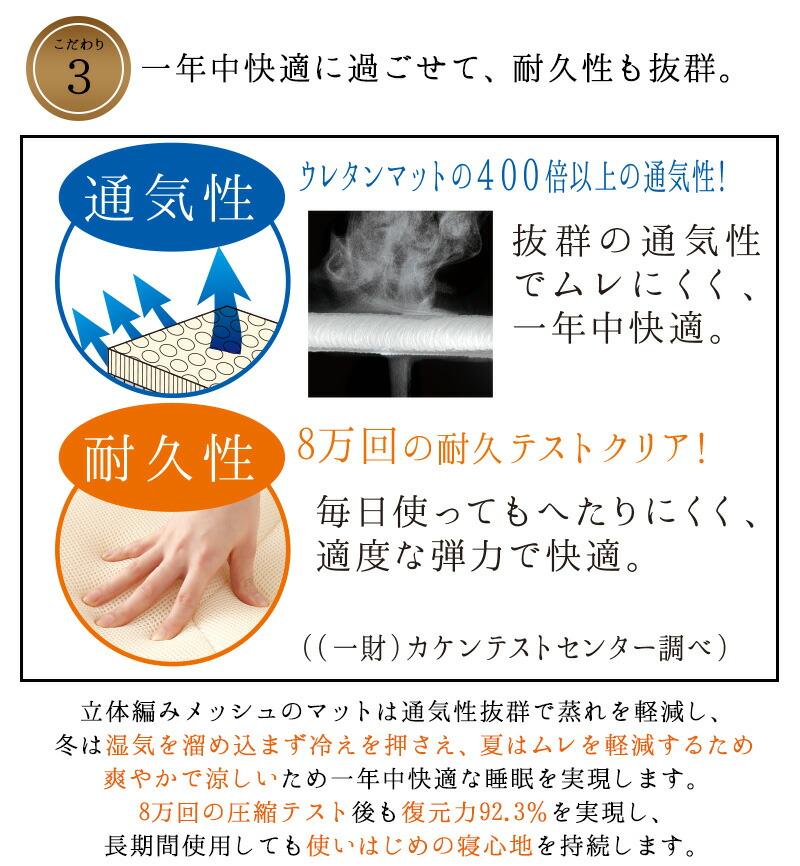 [勝野式 医学博士の三層構造マット]