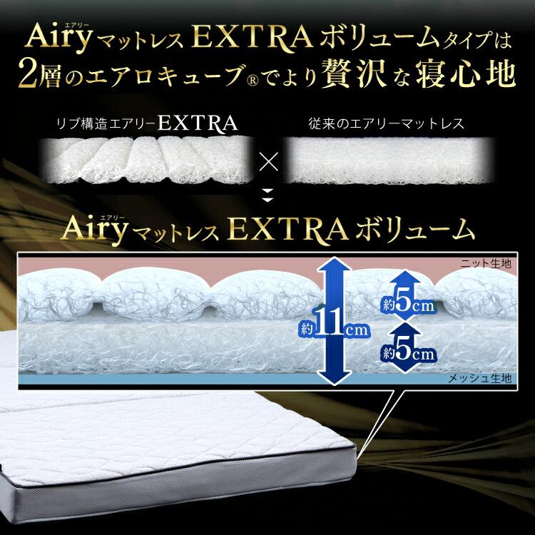 2層のエアロキューブでより贅沢な寝心地