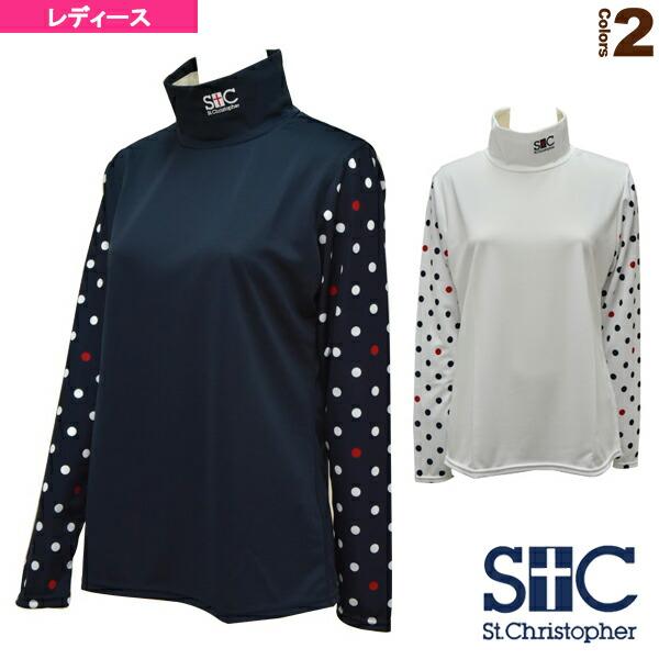 モックネック ロングスリーブTシャツ/レディース(STC-AFW6011)
