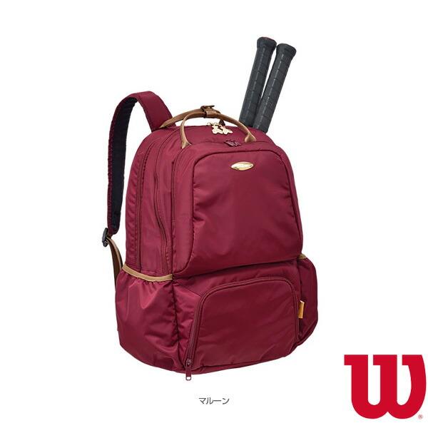 W BEAR BACKPACK 13POCKETS/ウィルソンベア バックパック 13ポケット/ラケット2本収納可/マルーン(WR8001907001)