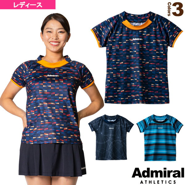 ネックスイッチグラフィックTシャツ/レディース(ATLA133)