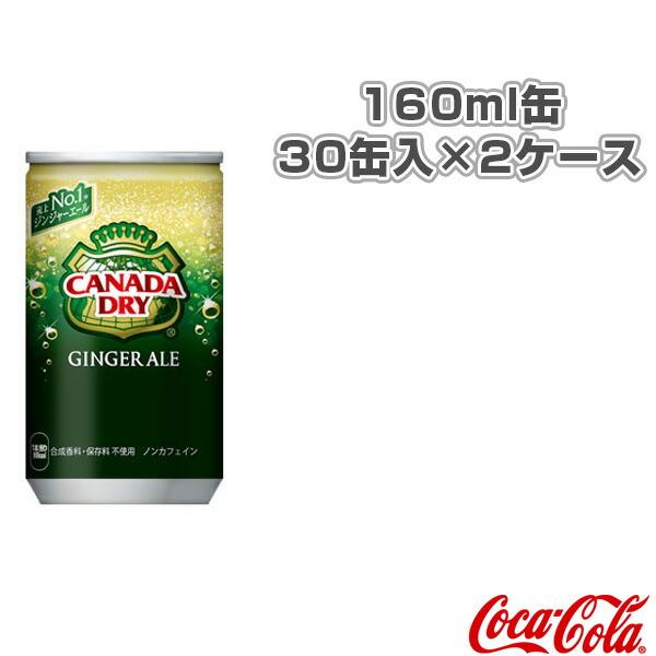 【送料込み価格】カナダドライ ジンジャエール 160ml缶/30缶入×2ケース(44905)
