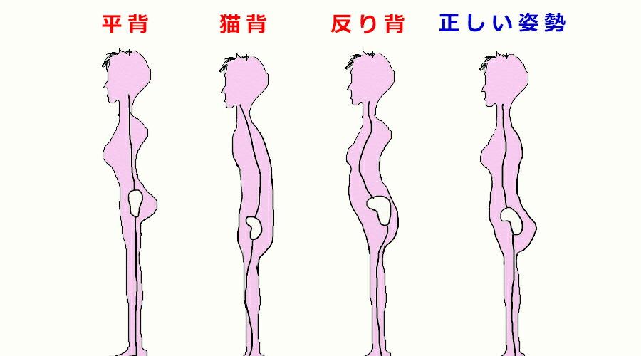 姿勢4パターン