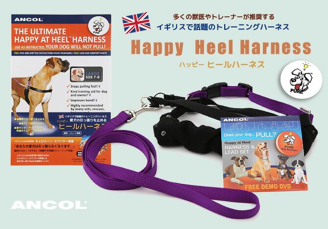 多くの獣医やトレーナーが推奨する、イギリスで話題のトレーニングハーネス「引っ張り防止ハッピーヒールハーネス」!